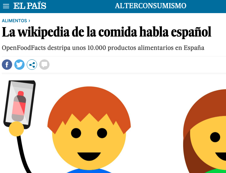 La wikipedia de la comida habla español
