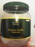 Archer farms roasted jumbo cashews - Product