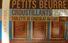Petits beurre croustillants tablette de chocolat au lait - Product