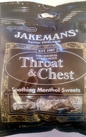 Throat & Chest Soothing Menthol Sweets - Product