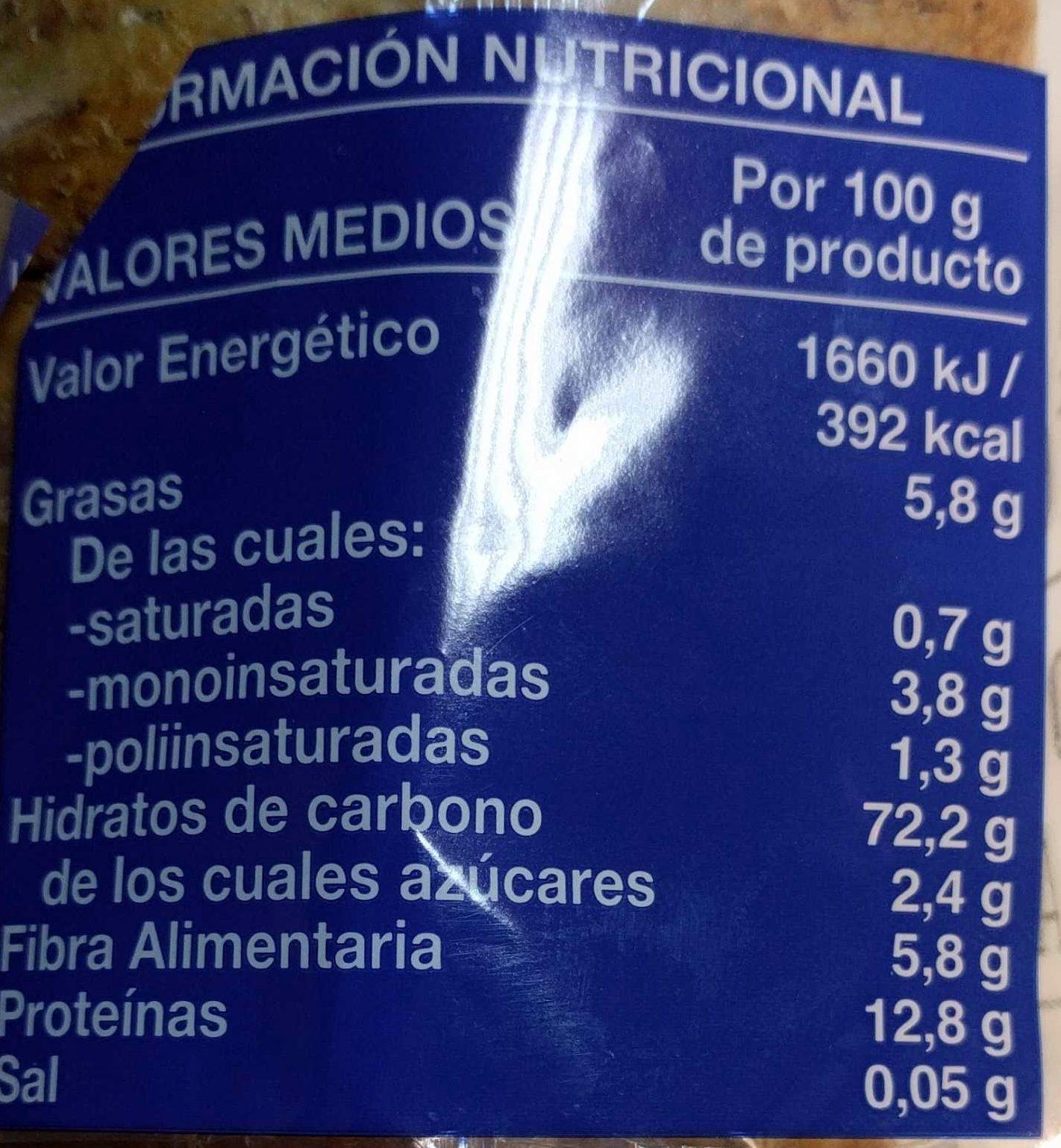 Pan Tostado Integral Bajo En Sal Y Azúcares Hacendado 540 G