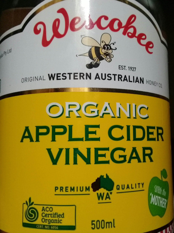 Organic Apple cider vinegar - Wescobee - 500ml
